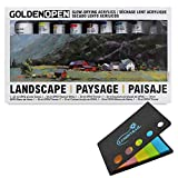 Golden Artist Color Open Slow-Drying Acrylics Landscape Set #957, with Lumintrail Sticky Notes