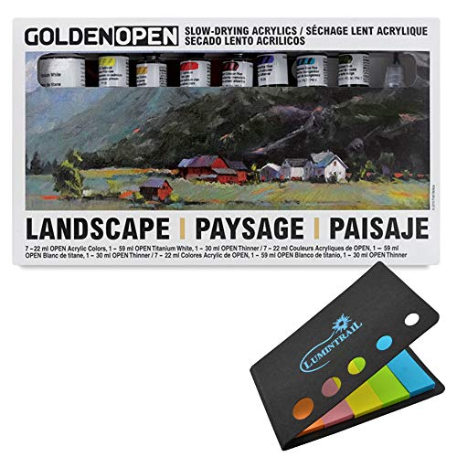 Golden Artist Color Open Acrylic Professional 7 Color Landscape Set