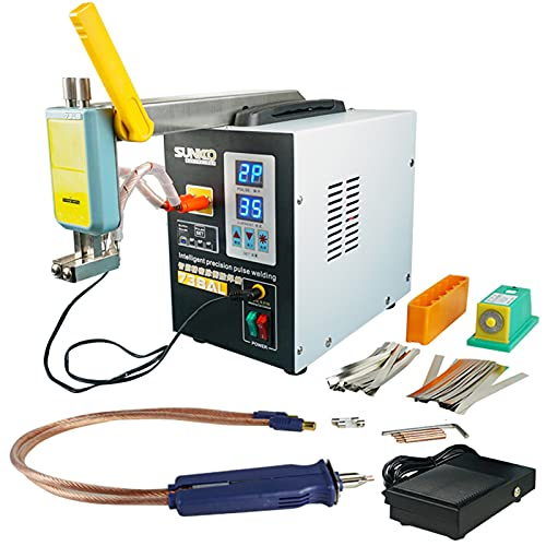 Keifen Equipo de soldadura de batería para soldador por puntos con brazo telescópico magnético y bolígrafo de soldadura extraíble Máquina de soldadura por pulsos de precisión inteligente