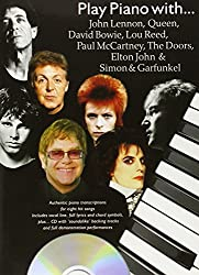 Play Piano With Lennon Queen Bowie, Lou Reed, Doors + Cd