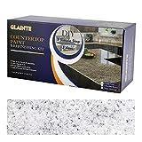 GLAINTE Countertop Paint & Refinishing Kit for Kitchen Bathroom White Diamond