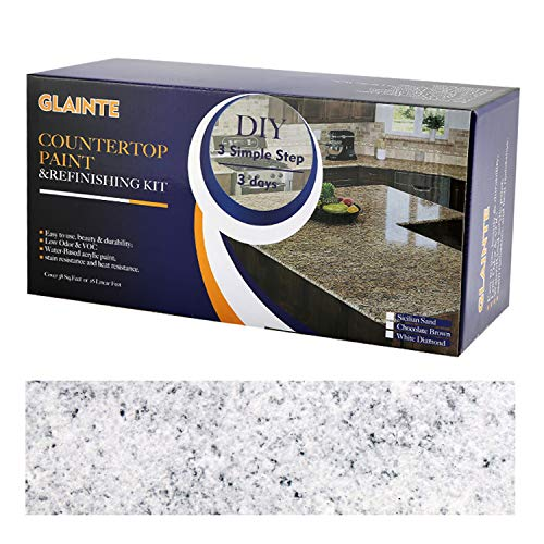 Product Image of the GLAINTE Countertop Paint & Refinishing Kit for Kitchen Bathroom White Diamond