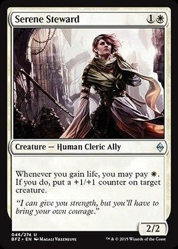 Magic  the Gathering - Serene Steward (046 274) - Battle for Zendikar by Magic  the Gathering