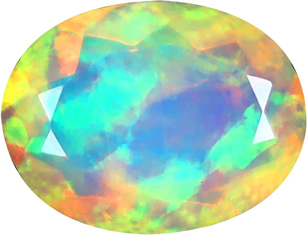 2.00 ct OVAL 12 X Max 86% OFF 9 mm O ! Super beauty product restock quality top! DEGREE ETHIOPIAN 360 FLASHING RAINBOW
