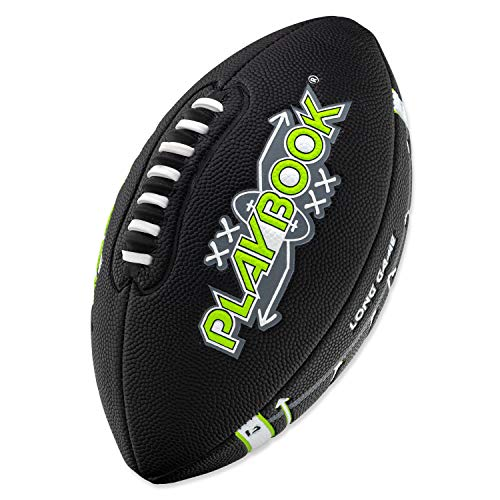 Franklin Sports Playbook Junior Size Football with Route Diagrams Perfect for Kids