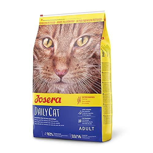JOSERA DailyCat (1 x 2 kg)   getreidefreies Katzenfutter mit Geflügel, Kräutern und Früchten   Super Premium Trockenfutter für ausgewachsene Katzen   1er Pack