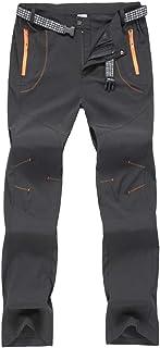 Haobing Unisexo Pantalones de Acampada y Marcha Pantalón de