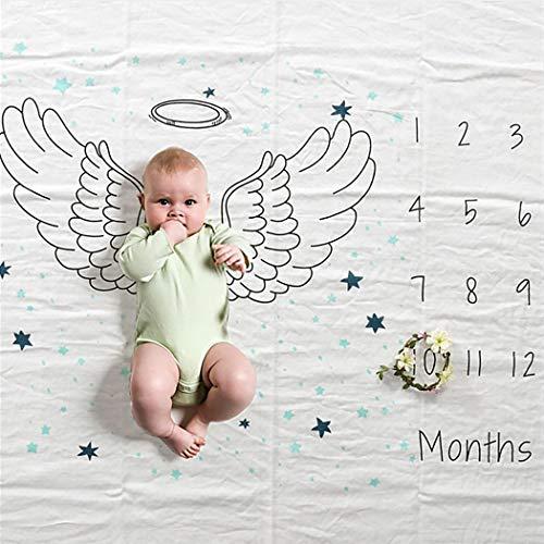 Justdolife Baby Fotografie Stütze Kaktus Flügel Muster Baby Foto Decken Foto Stütze