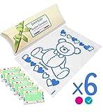 SweetBaby 6 Bolsitas para la Canastilla del Recién Nacido Sobre Hospitalarios
