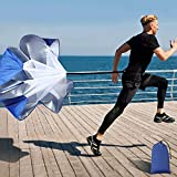 Running Speed Training, 56 Inch Speed Chute with Carry Bag,...