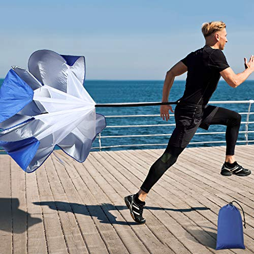 Running Speed Training, 56 Inch Speed Chute with Carry Bag, Resistance Running Parachute for Football SoccerTraining Kids Youth and Adults
