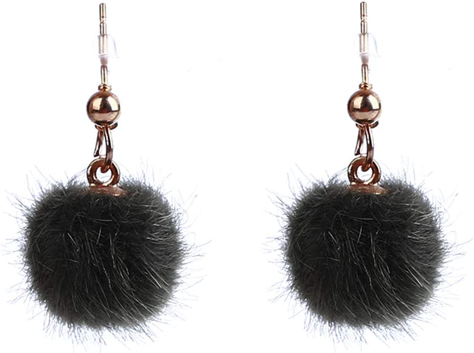 BRAND NEW POM SILVER PLATED PUFF HEART DROP EARRINGS BY POM