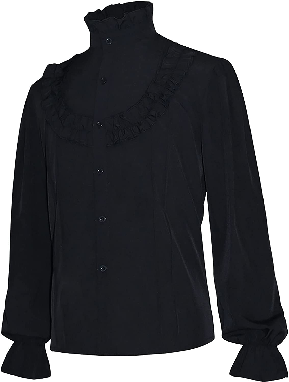 BIONIO Mens Pirate Shirt Costume Victorian Vampire S Many popular Free shipping / New brands Renaissance