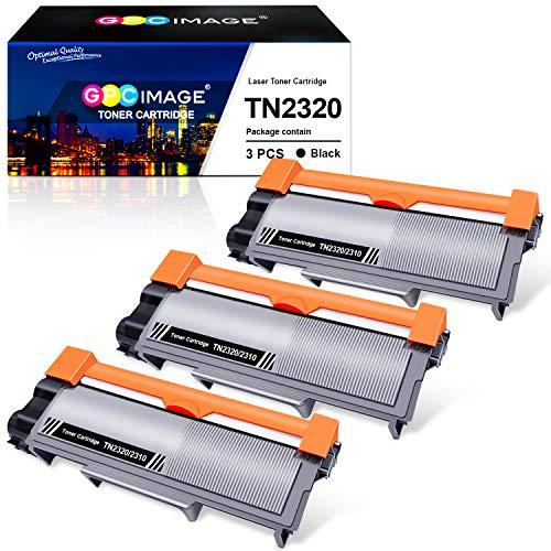 GPC Image TN2320 TN2310 TN-2320 TN-2310 Compatible Cartuchos de tóner Reemplazo para Brother HL-L2340DW HL-L2360DN MFC-L2700DW DCP-L2520DW HL-L2365DW MFC-L2740DW MFC-L2720DW DCP-L2540DN (3 Negro)