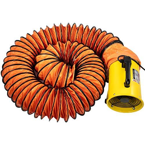 Husuper Ventilador de Ventilación Portátil 8 Pulgadas con Manguera de Ventilador 10 M Ventilador Utilitario 1020-1500M³/H Ventilador de Admisión Extractor de Aire, Áreas Como Fábricas, Lofts