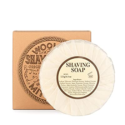 Mitchells Wool Fat Shaving Soap Refill (125 g) from Mitchell's Wool Fat Soap Ltd