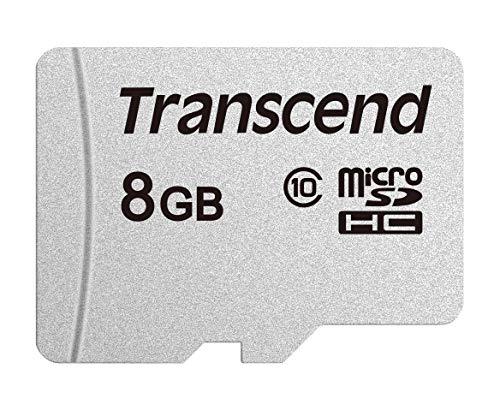 Transcend TS8GUSD300S Scheda di Memoria MicroSDHC 300S, 8 GB, Senza adattatore, Imballaggio Standard, Argento