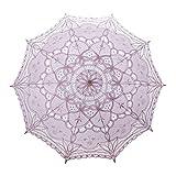 TOPTIE Vintage Lace Parasol, Wedding Bridal Umbrella, Photograph Parasol, Christmas Party Decoration - Pink