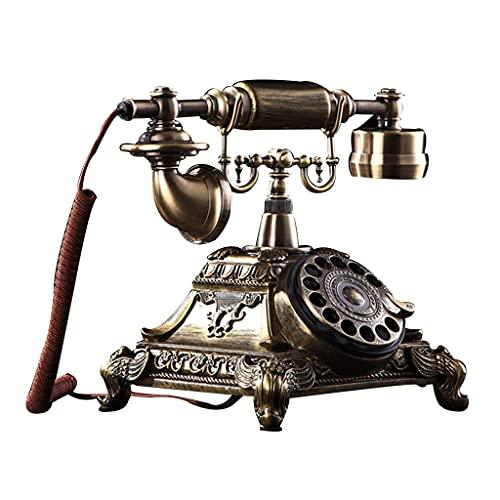 Telephone Placa giratoria Estilo Europeo Antiguo teléfono Antiguo Retro Moda doméstica Creativo cableado Antiguo Manos Libres teléfono Fijo