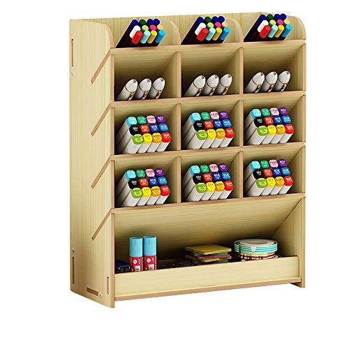 Caja de papelería multifunción Soporte de lápiz de Pluma Set de Madera Maciza B para bolígrafo de Oficina de Escritorio TINGG