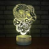 3d lampara de la noche LED Lámpara de Escritorio sheep De Habitación De Niños Lámpara De Mesa Los Mejores Regalos De Vacaciones De Cumpleaños Para Niños Con interfaz USB, cambio de color colorido