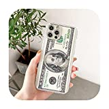 Dollar Banknote Billionaire Funda Suave Transparente Teléfono para iPhone 12 Pro 11 Pro Max X XS Max XR7 8 Plus Protección-2-Para iPhone 8 Plus