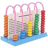 1個の再利用可能な耐久性のある木製の軽量のコンパクトな教育の玩具算術的なそろばん幼児子供の子供たち (Size : Medium)