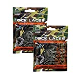 Lock Laces for Boots (2 Pair) Premium Heavy Duty Elastic No Tie Boot Laces for Boots and Shoes (Camo-Camo)