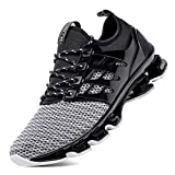 SKDOIUL Grey Jogging Shoes for Mens mesh Breathable Slip on Comfortable Boys Trail Running Shoes Outdoor Travel Shoes Grey Size 10.5