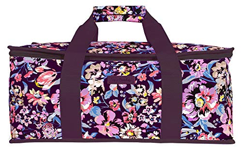 Vera Bradley Floral Insulated Casserole Dish Carrier, Fits Up To 2 Baking Dishes, Indiana Rose