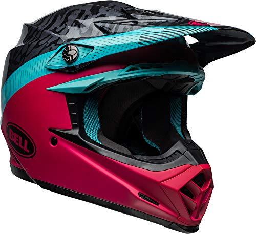 Bell Moto-9 Chief Adult Off-Road Motorcycle Helmet - Matte/Gloss Black/Blue/Pink / 2X-Large