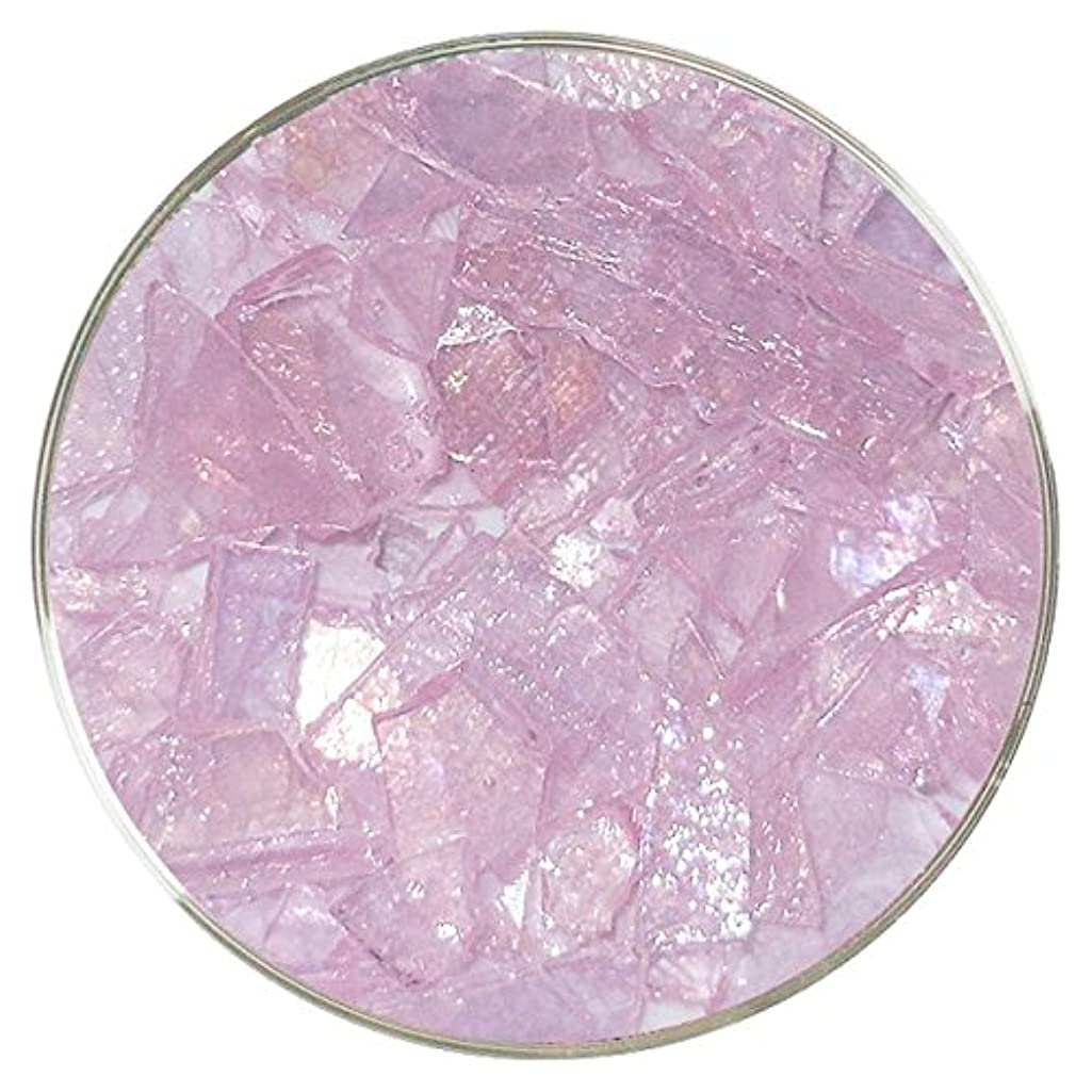Urobium Pink Iridescent Mosaic Frit - 96COE - 4oz - Made from System 96 Glass