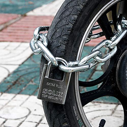 Jingyinyi Elektrische autoslot, kettingslot, fietsslot, scooter, accu, diefstalbeveiliging, vet en lang 0,8 m B