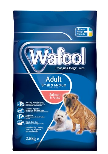 Wafcol Adult Sensitive Dog Food - Salmon & Potato - Grain Free Dog Food for Small and Medium Breeds - 2.5 kg Pack