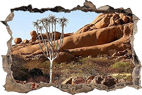 Pegatinas de pared Murales Giant Mountain Wonder Tree extraíble agujero rasgado decoración papel tapiz Pvc Art Nursery School Artwork Nursery Wall Décor - 3D - Poster-50x70cm