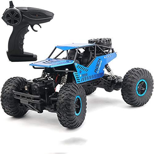 Regalos para niños juguete, Modelo de coche de control remoto Cuatro rocas accionamiento escalada de coches, Juegos / Educativo / 28x18x14cm Explorador de Niños juguete juguetes ( Color : Blue )