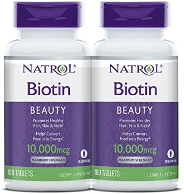 Natrol Biotin Beauty Tablets Promotes Healthy Hair Skin and Nails Helps Support Energy Metabolism Helps Convert Food Into Energy Maximum Strength 10000mcg, Multi, 200 Count