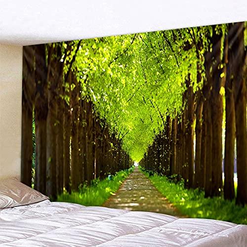 Tapiz de árbol de sombra verde para colgar en la pared, alfombra de Picnic en la playa de arena, almohadilla para tienda de campaña, colcha para dormir, decoración del hogar, hoja de tela A4 150x200cm