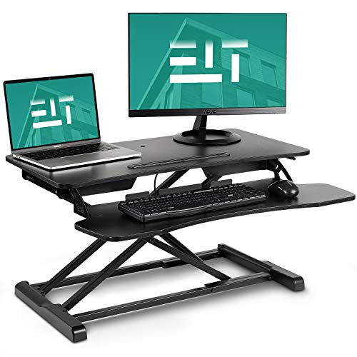 EleTab Standing Desk Converter Sit Stand Desk Riser Stand up Desk Tabletop...