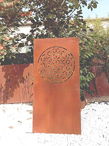 Zen Man patina Tuin zichtwerende wand van metaal 1 mm roest inkijkbescherming tuinhek tuinsculptuur tuindecoratie handwerk 032024 B 75 * H 150 cm