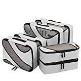 Eono by Amazon - Organizadores de Viaje Cubos de Embalaje Organizadores para Maletas Travel Packing Cubes Equipaje de Viaje Organizadores Organizadores para el Equipaje, Gris, 6 Pcs