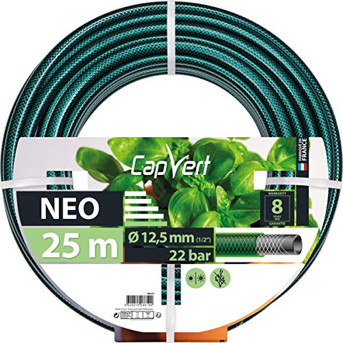 Cap Vert Tuyau d'arrosage Néo Diamètre 19 mm - Longueur 50 m