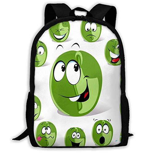 Casual Daypack Grüne Kaffeebohne Schultasche Komfortabel Schulrucksack Ergonomischer Kinderrucksack Prämie College Daypack Für Teenager Herren Damen