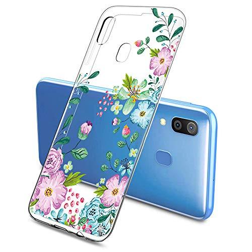 Oihxse Funda Compatible con Samsung Galaxy J5 Prime/ON5 2016, Carcasa Silicona Transparente TPU Ultra Hybrid Protector Flexibilidad Gel Flores de Cerezo Romance Dibujos Diseño(Flores A6)