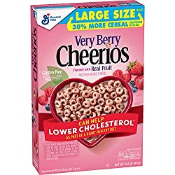 Very Berry Cheerios, Gluten Free, Breakfast Cereal, 14.5 oz Box
