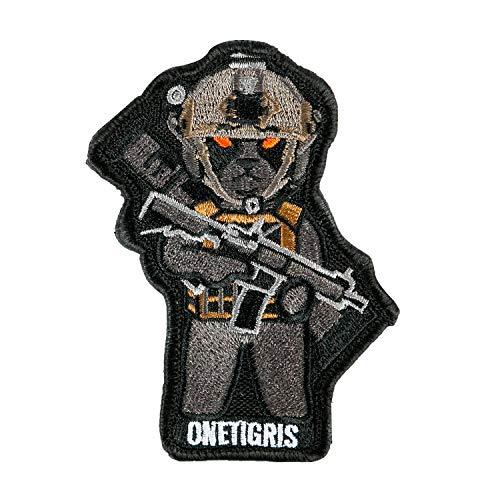 OneTigris K9 Patch Dog Morale Patch for Vest Harness Collar Leash (Black Labrador)