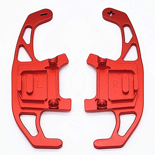 Joygowe Car Steering Wheel Shift Paddle for VW Polo Golf 7 MK7 GTI GTD GTE Passat R-line Jetta Lamando Scirocco DGS Extension Paddle (Red)