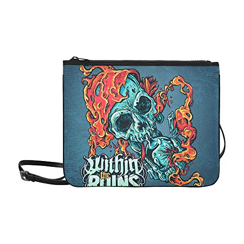 Within The Ruins Halfway Human Album Cover Ghost C Pattern Custom High-grade Nylon Slim Clutch Bag Cross-body Bag Shoulder Bag