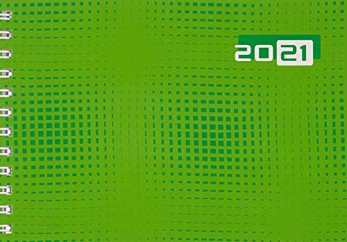 rido/idé 7017107011 Taschenkalender Septimus, 2 Seite = 1 Woche, 152 x 102 mm, Grafik-Einband grün, Kalendarium 2021