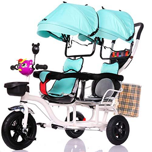 YUMEIGE Trikes Kids Tricycle1-6 Jaar Oude Verjaardag Kids Gift Peuter Kinderwagens Trike Inklapbare Luifel Gewicht 200 Kg Groen